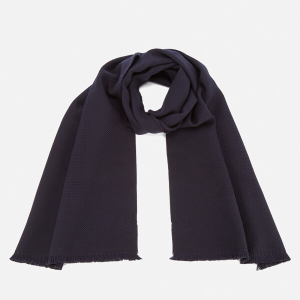 Paul Smith Accessories Men's Panelled Weave Scarf - Navy