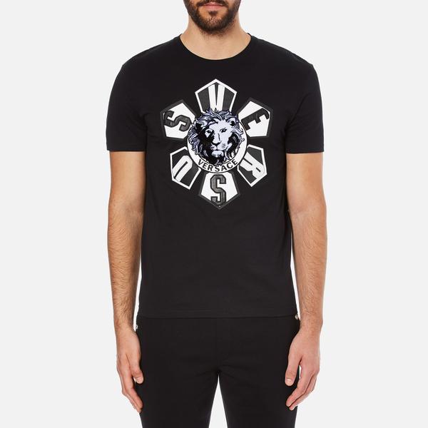 Versus Versace Men's Large Logo T-Shirt - Black