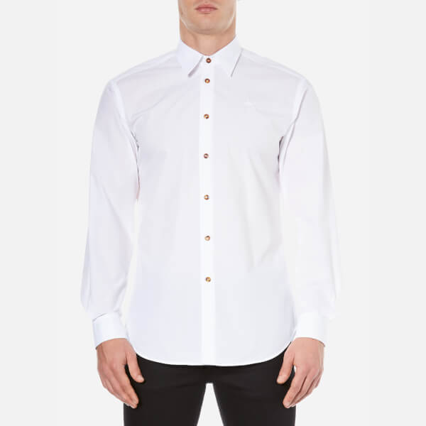 Vivienne Westwood MAN Men's Firm Poplin Classic Cutaway Shirt - White
