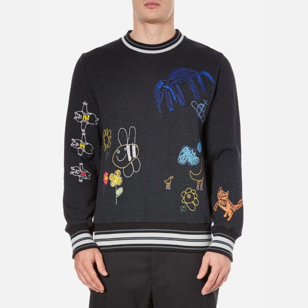 Vivienne Westwood MAN Men's Felpa Embroidery Crew Neck Sweatshirt - Grey Melange