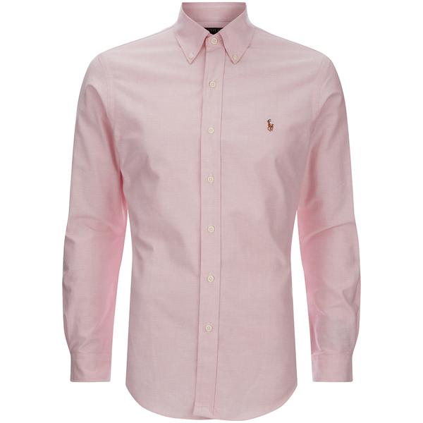 Polo Ralph Lauren Men's Slim Fit Button Down Stretch Oxford Shirt - Pink