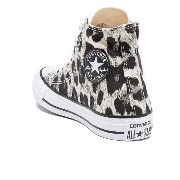 e76233821f Converse Women's Chuck Taylor All Star Animal Print Hi-Top Trainers -  Parchment/Black