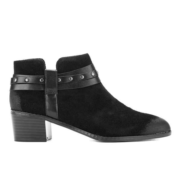 Clarks Women's Breccan Shine Suede Heeled Ankle Boots - Black