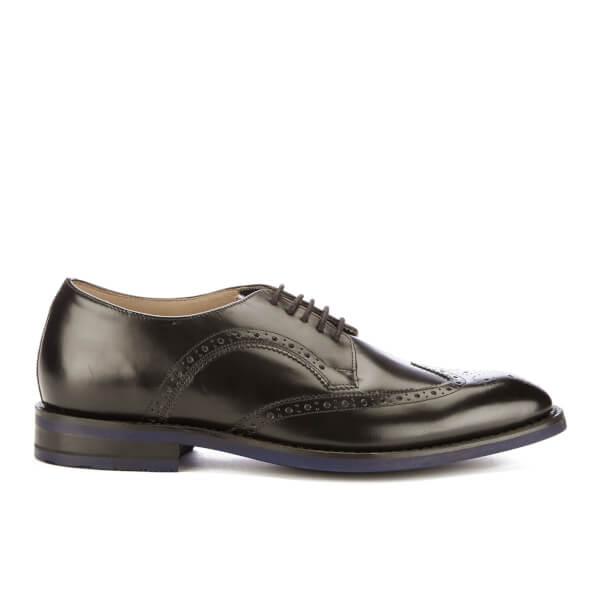 Clarks Men's Swinley Limit Leather Brogues - Black