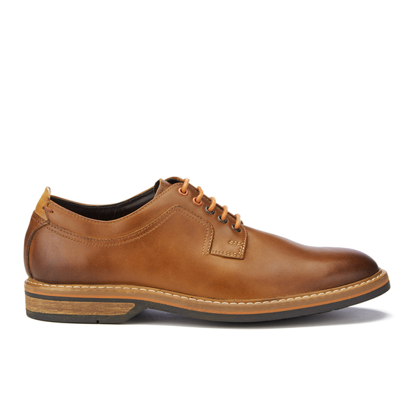 Clarks Men's Pitney Walk Leather Derby Shoes - Cognac: Image 1