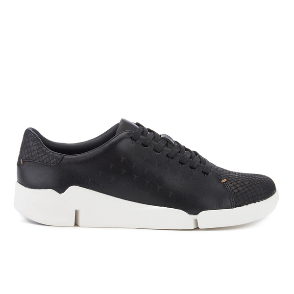 Clarks Women's Tri Abby Leather Flex 3 Trainers - Black