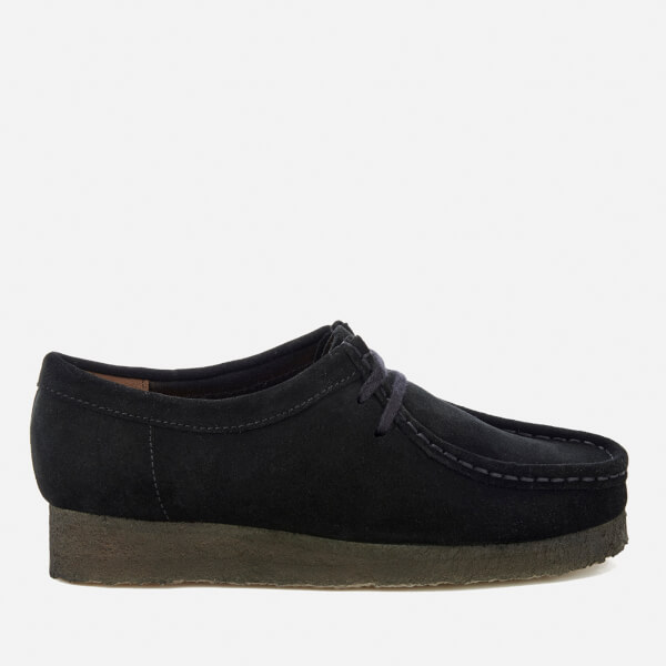 Clarks Originals Women's Wallabee Shoes - Black Suede