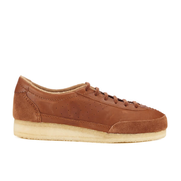 Clarks Originals Men's Torcourt Super Trainers - Dark Tan Leather