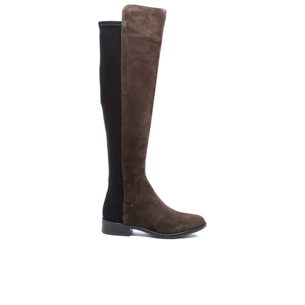 Clarks Women's Caddy Belle Suede Thigh High Boots - Grey