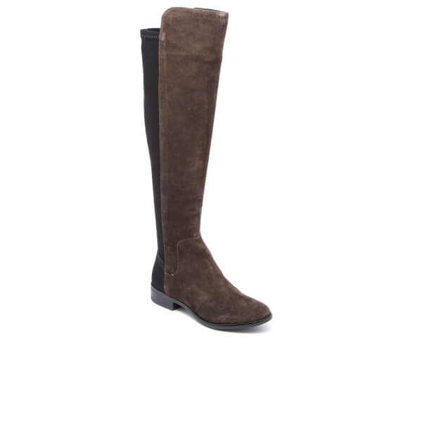 Clarks Women's Caddy Belle Suede Thigh High Boots - Grey Womens ...