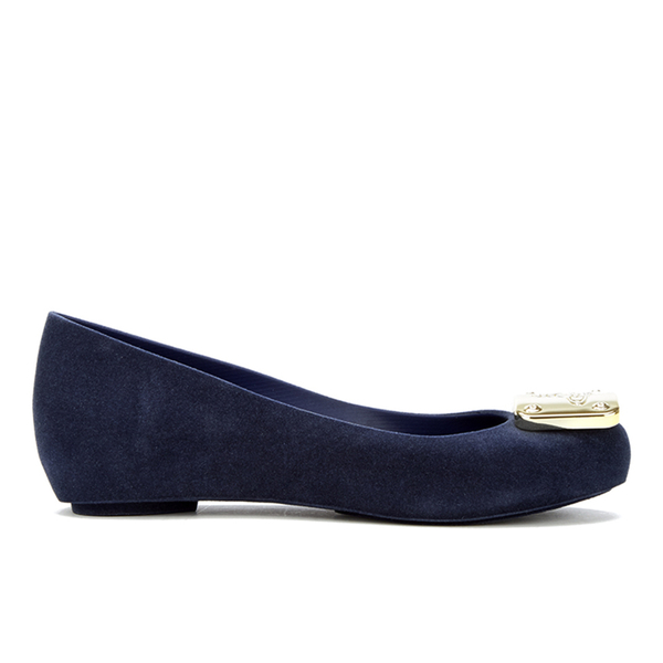 Vivienne Westwood for Melissa Women's Ultragirl 16 Ballet Flats - Navy Flock Plaque