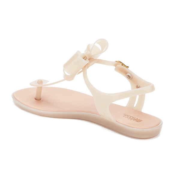Melissa Women's Solar Bow Plastic Toe Post Buckle Sandal Blush-Blush-6 Size 6 SZj2OLjadX