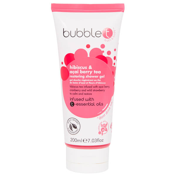 Gel de ducha de Bubble T - Hibisco y té de baya de açai (200 ml)