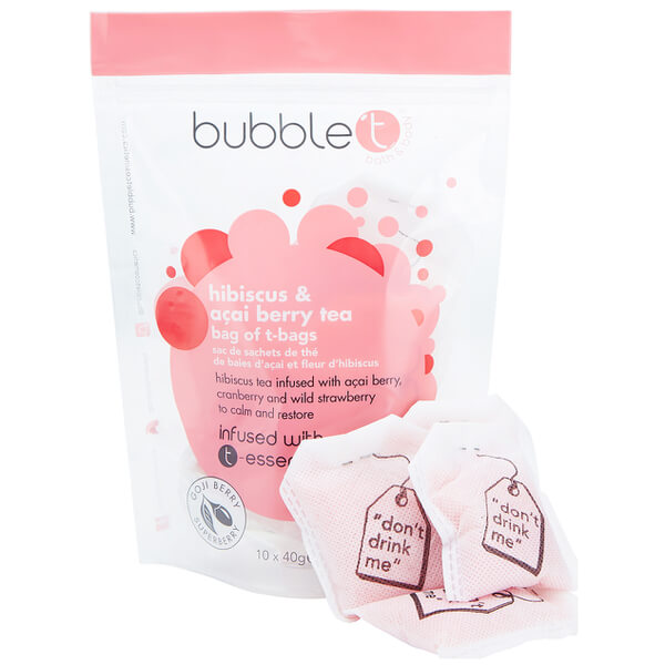 Bubble T Bad Infusion T-Bags - Hibiscus & Acai Berry Tea 10 x 40 g