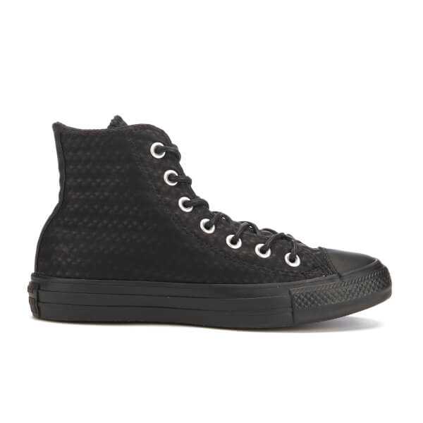 Converse Women's Chuck Taylor All Star Craft Leather Hi-Top Trainers - Black  Monochrome: