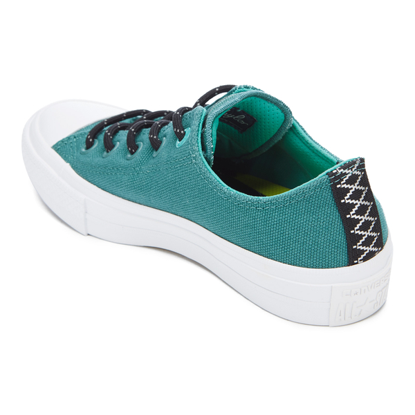 15a1735ed0a8 Converse Women s Chuck Taylor All Star II Shield Canvas Ox Trainers - Cool  Jade White