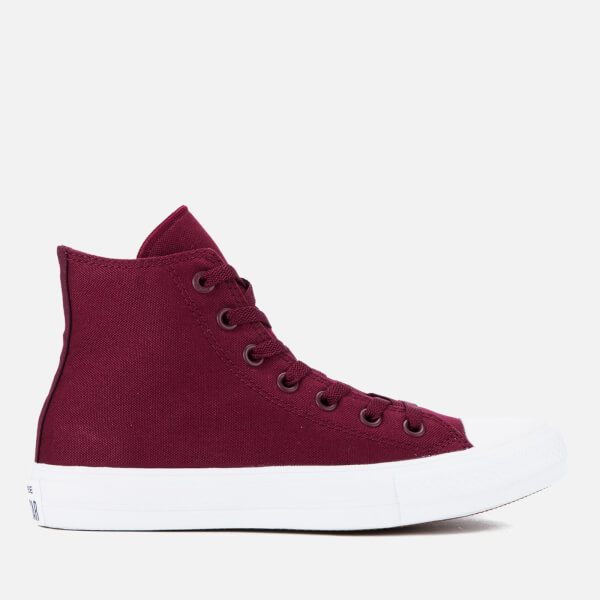 87249a3708f7 Converse Chuck Taylor All Star II Hi-Top Trainers - Deep Bordeaux White