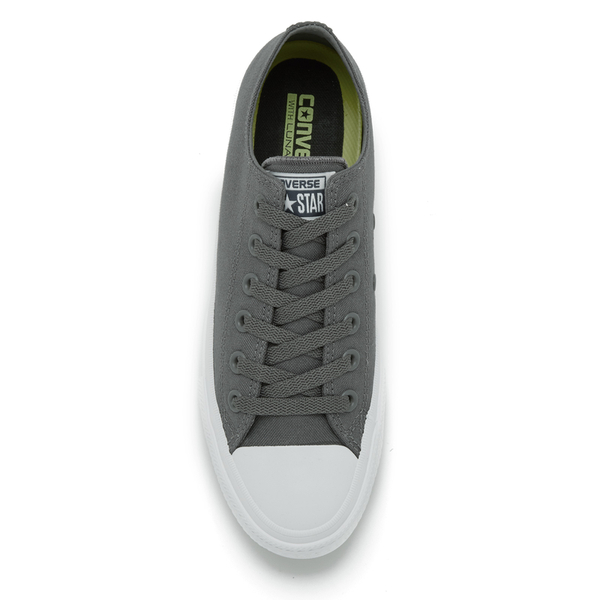 c92a6932779b Converse Chuck Taylor All Star II Ox Trainers - Thunder White Navy  Image