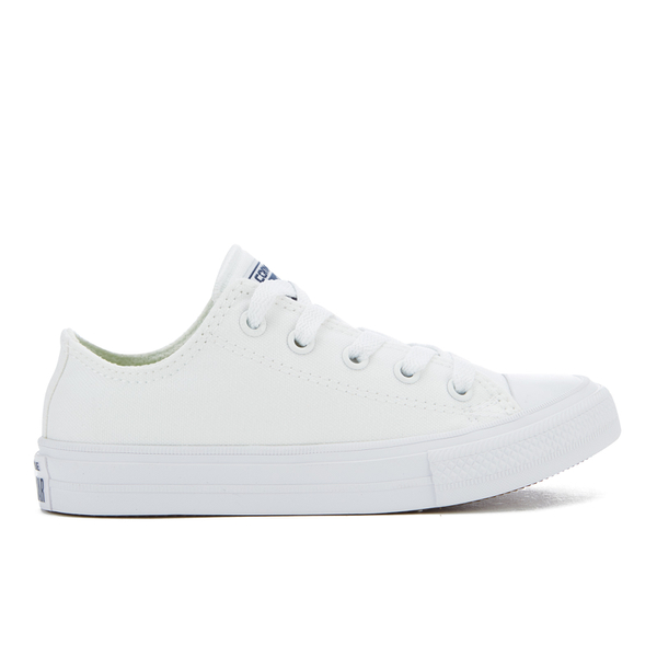 Converse Kids Chuck Taylor All Star II Tencel Canvas Ox Trainers - White/White/Navy