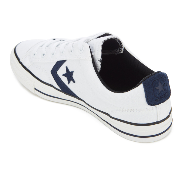 Converse CONS Men s Star Player Canvas Ox Trainers - White Obsidian Black   Image 151d45a3b