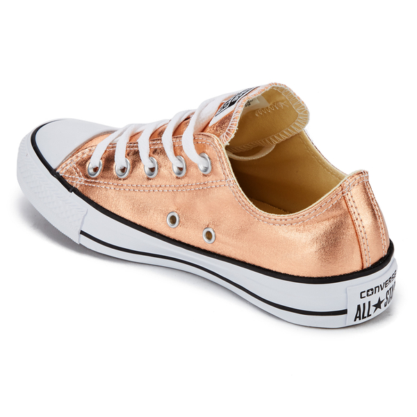 6d1137d20935 Converse Women s Chuck Taylor All Star Ox Trainers - Metallic Sunset Glow  White Black