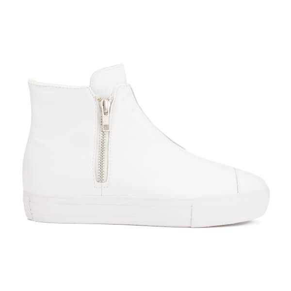 Converse Women's Chuck Taylor All Star Leather Hi-Top Trainers - White Monochrome