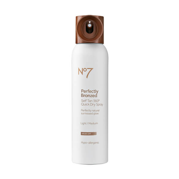 Boots No.7 Perfectly Bronzed Quick Dry 360 Airbrush - Light to Medium