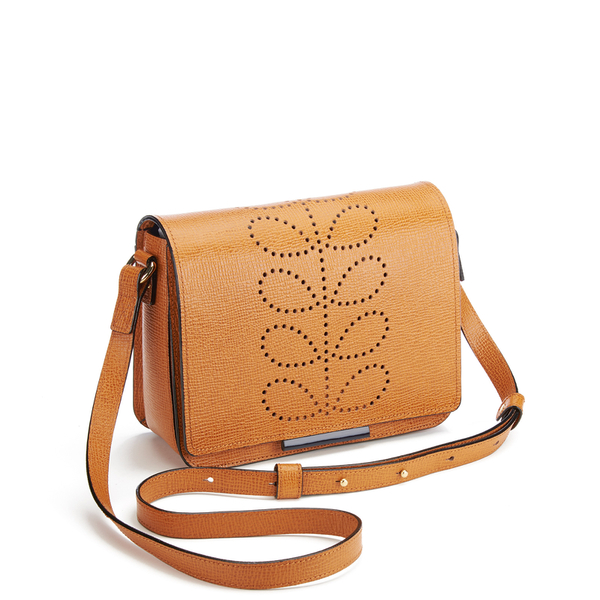 Orla Kiely Women S Mini Ivy Leather Cross Body Bag Tan Image 3