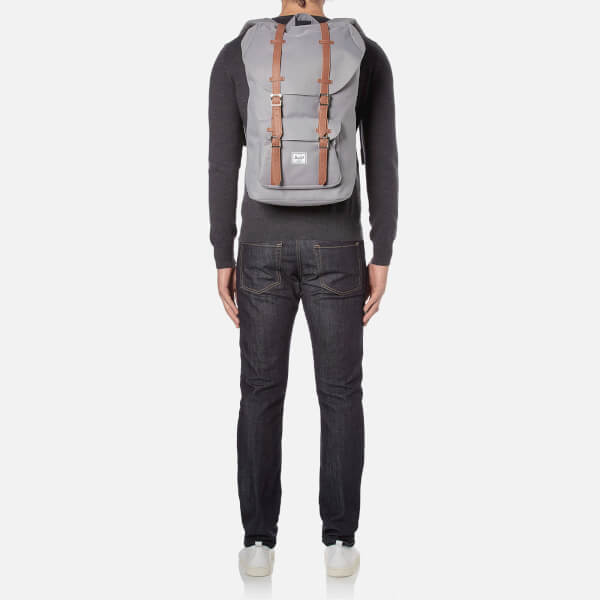 Herschel Supply Co. Little America Backpack - Grey Tan Synthetic Leather   Image 2 d526ca0269f87