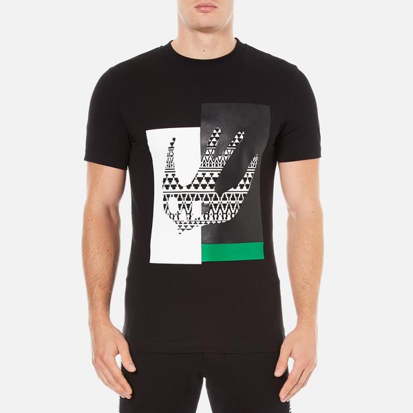 McQ Alexander McQueen Men's Abstract Swallow Short Sleeve Crew T-Shirt - Darkest Black