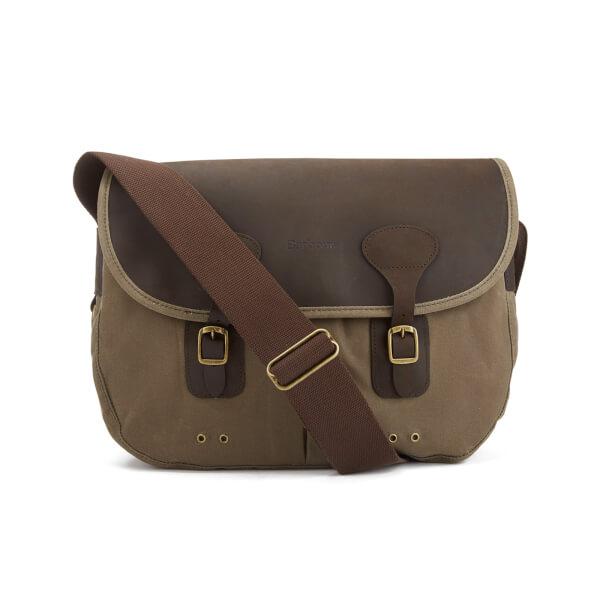 Barbour Men's Wax Leather Tarras Bag - Natural