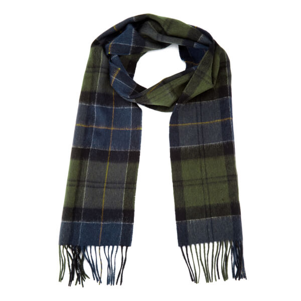 Barbour Men's Holden Tartan Scarf - Green/Navy