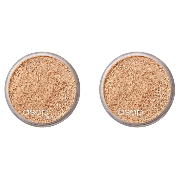 2x asap pure mineral makeup - three