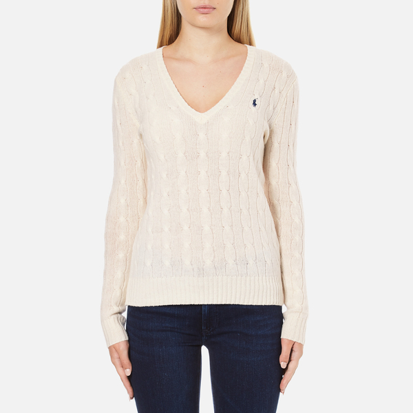 Polo Ralph Lauren Women's Kimberley Cashmere Blend Jumper - Cream