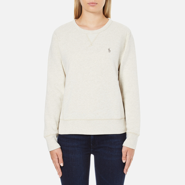 Polo Ralph Lauren Women's Crew Neck Logo Sweatshirt - Chalk Heather