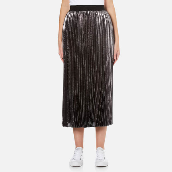 Sportmax Women's Polo Pleat Skirt - Dark Grey