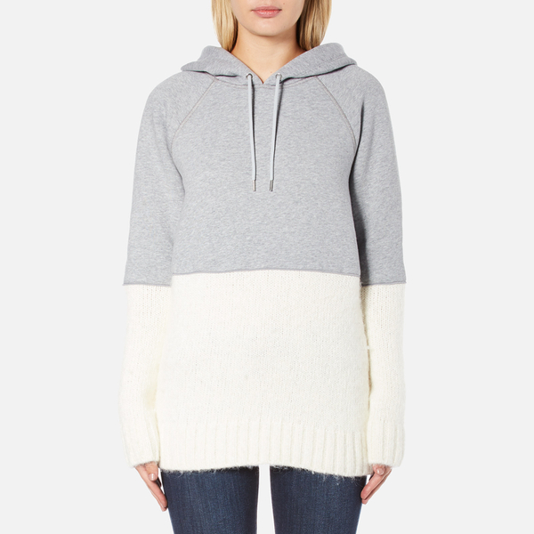 Sportmax Women's Aladino Knitted Hoody - Medium Grey