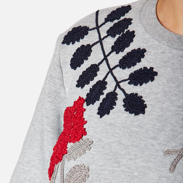 Sportmax Womens Texas Embroidered Sweatshirt Medium Grey Free
