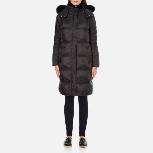 MICHAEL MICHAEL KORS Women's Fur Collar Long Puffa Coat - Black