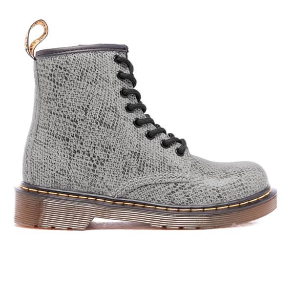 Dr. Martens Kids' Delaney ASP Viper Lace Boots - Light Grey