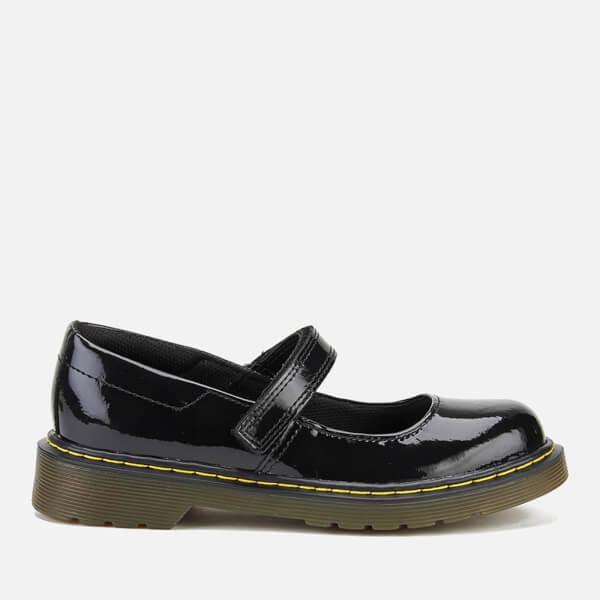 Dr. Martens Kids' Goldie J Patent Leather T Bar Shoes - Black