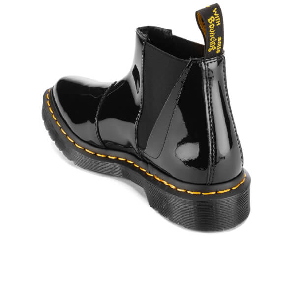 dr martens women 39 s pointed bianca patent lamper chelsea boots black free uk delivery allsole. Black Bedroom Furniture Sets. Home Design Ideas