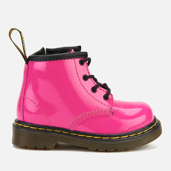 Dr. Martens Toddlers' Brooklee B Patent Lamper Leather Lace Up Boots - Hot Pink