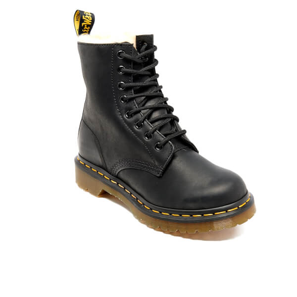79a9ae3a922a4 Dr. Martens Women's Serena Fur Lined Leather 8-Eye Boots - Black: Image