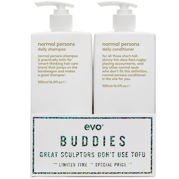 Evo Buddies 'Great Sculptors Don't Use Tofu' Shampoo and Conditioner Duo