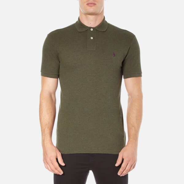 Polo Ralph Lauren Men's Short Sleeve Slim Fit Polo Shirt - Alpine Heather