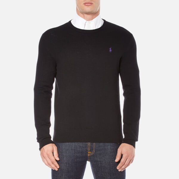 Polo Ralph Lauren Men's Crew Neck Merino Knitted Jumper - Polo Black
