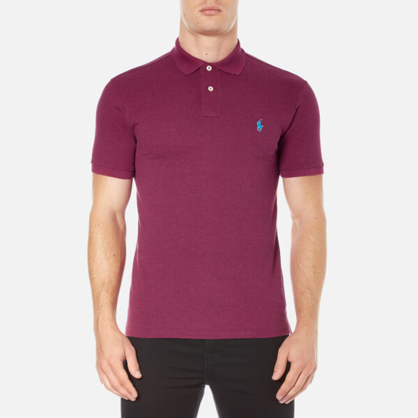 Polo Ralph Lauren Men's Short Sleeve Slim Fit Polo Shirt - New Cranberry