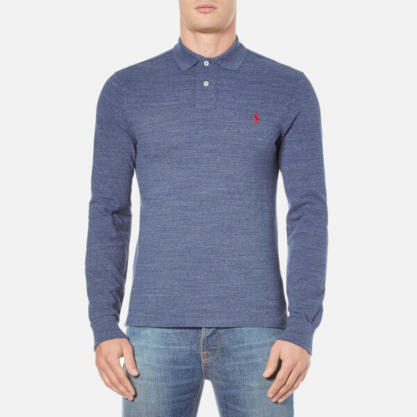 Polo Ralph Lauren Men's Long Sleeve Slim Fit Polo Shirt - Classic Royal