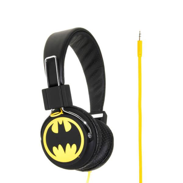 Batman Classic The Dark Knight Folding On-Ear Headphones - Yellow Logo